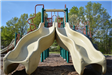 Double Slides on Playground Equipment