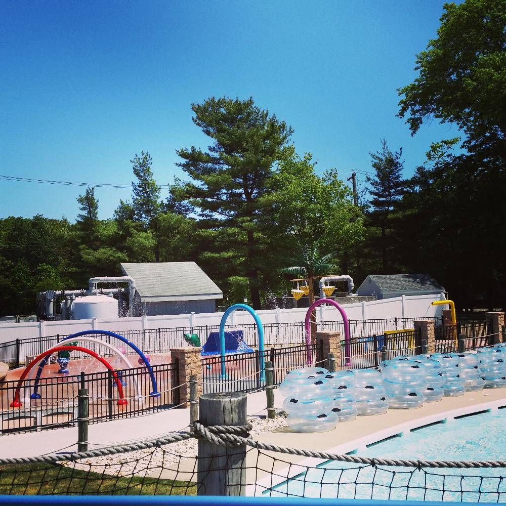 Splash Pad and Innertubes for Lazy River