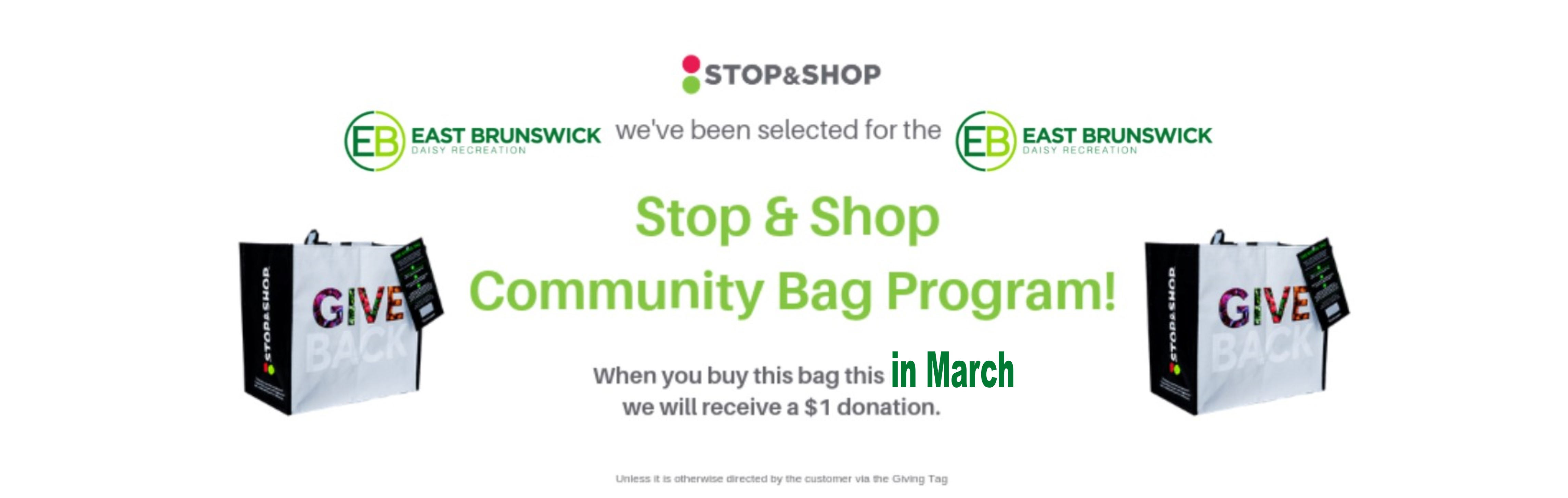 2020 Daisy StopnShop Bag Banner