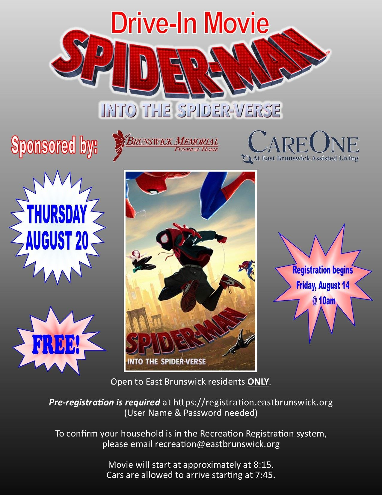 Spiderverse Drive In Movie Flyer (002)
